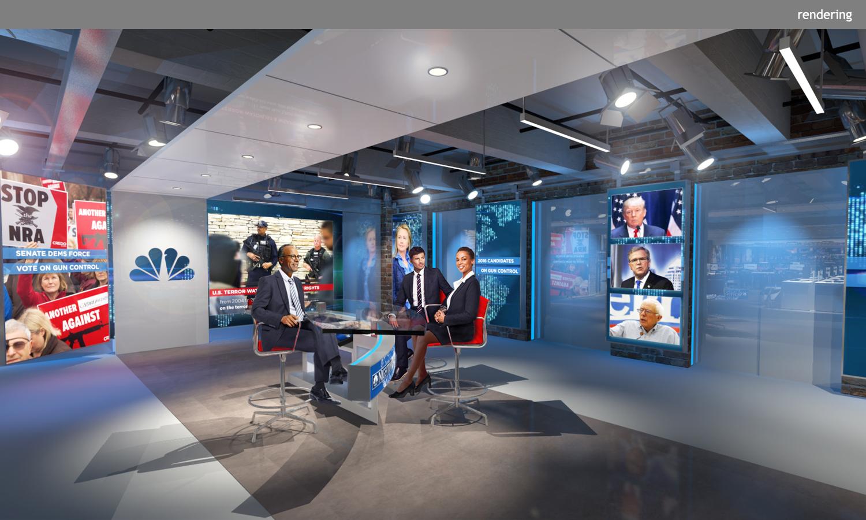 Nbc l4 newsroom studio clickspring design for 10 rockefeller plaza 4th floor new york ny 10020